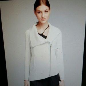 Helmut Lang Villous Asymmetrical Jersey Jacket